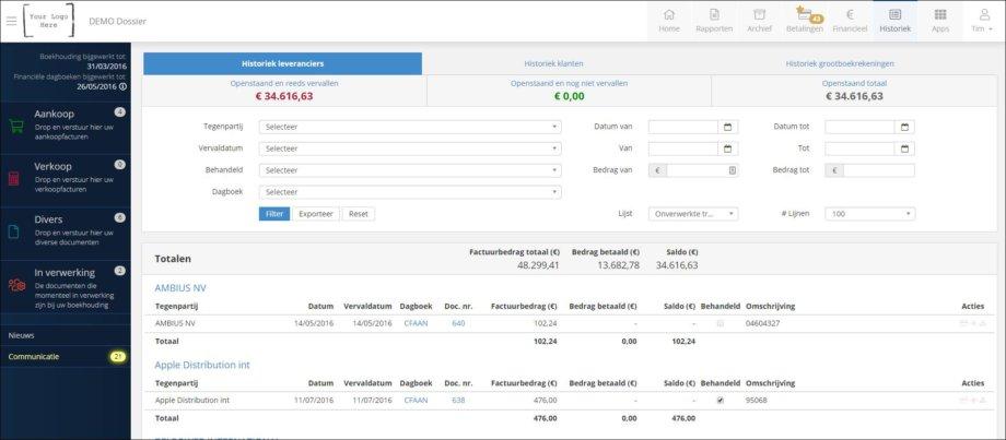 ClearFacts leveranciers